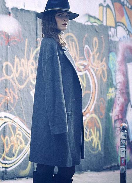 Der feminin maskuline Mantel